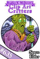 Clipart Critters 635 - Space Elder