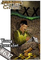 Clipart Critters 637-Young Journalist