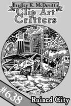 Clipart Critters 638-Ruined City