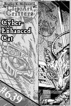 Clipart Critters 639-Cyber-Enhanced Cat
