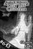 Clipart Critters 643- Ghostly Lady