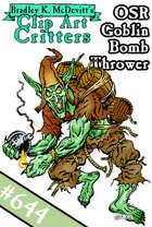 Clipart Critters 644-OSR Goblin Bomb Thrower