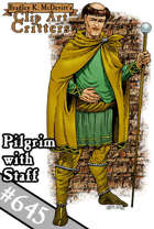 Clipart Critters 645- Pilgrim with Staff