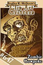 Clipart Critters 647 - Zombie Cowpoke