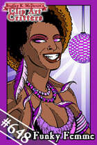 Clipart Critters 648 – Funky Femme