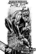 Clipart Critters 649 - Crouching Werewolf