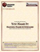 You Name It: Halfling Names & Surnames
