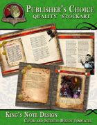 Publisher's Choice - King's Note (Cover and Interior Page Templates)