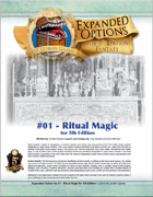 (5e) Expanded Options #01 - Occult Ritual Magic for 5th Edition Fantasy