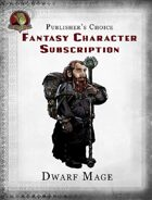 Publisher's Choice - Fantasy Characters: Dwarf Mage
