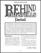Behind the Spells: Fireball