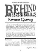 Behind the Spells: Reverse Gravity
