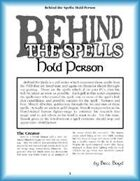 Behind the Spells: Hold Person