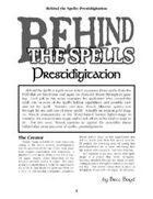 Behind the Spells: Prestidigitation
