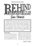 Behind the Spells: Fire Shield