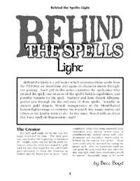 Behind the Spells: Light