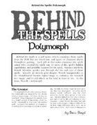 Behind the Spells: Polymorph