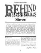 Behind the Spells: Silence