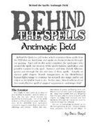 Behind the Spells: Antimagic Field