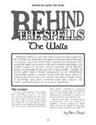 Behind the Spells: The Walls