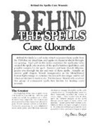 Behind the Spells: Cure Wounds