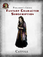 Publisher's Choice - Fantasy Characters: Female Catfolk