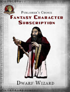Publisher's Choice - Fantasy Characters: Dwarf Wizard