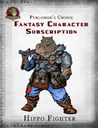 Publisher's Choice - Fantasy Characters: Hippo Fighter
