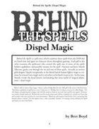 Behind the Spells: Dispel Magic