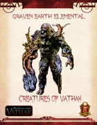 Creatures of Shadows over Vathak (5th Edition) Graven Earth Elemental