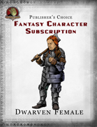 Publisher's Choice - Fantasy Characters:  Female Dwarf