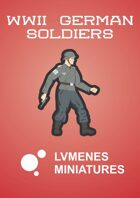 LVMENES Paper Miniatures: WWII German Soldiers
