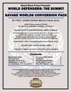 [Savage Worlds] World Defenders: The Summit