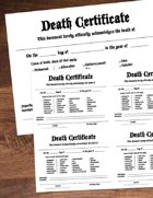 Character Death Certificate