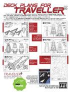 Traveller5 Starships & Spacecraft-2 FIVE Deck Plan Set