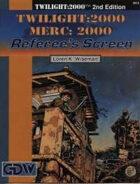 T2000 v2 Twilight:2000 Merc:2000 Referee's Screen