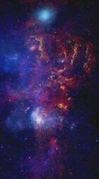 Printable Starfield: Blue Nebula