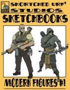 Skortched Urf' Studios Sketchbook: Modern figures #1