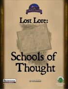 Lost Lore: Schools of Thought (PF)