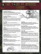 Tome of Horrors Light, Volume I