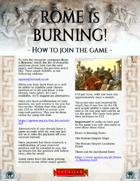 How to join: Rome is Burning! Ancient campaign