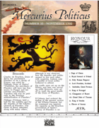 Glory of Kings November 1702 18th century wargames campaign newspaper