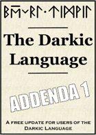 Darkic Language Addenda 1