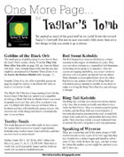 One More Page for Taglar's Tomb