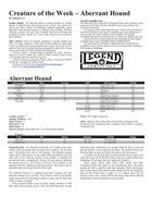 Creature of the Week - Aberrant Hound (Legend)