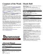 Creature of the Week - Death Bull (Pathfinder)