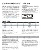 Creature of the Week - Death Bull (Legend)