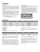 Creature - Gahual (Legend)