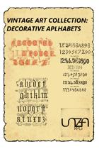 Vintage Art Collection: Decorative Alphabets