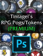 Tintagel's RPG Pogs/Tokens - PREMIUM (PSD)